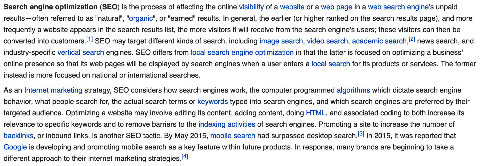 sample on-page seo wikipedia internal linking