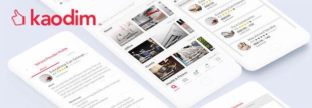 Kaodim Mobile Redeisgn work